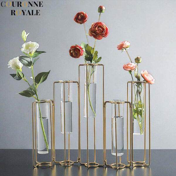 Vase à fleurs avec Tube Transparent