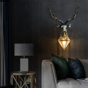 deco cerf lampe decoration royale