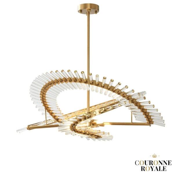 lustre de luxe futuriste