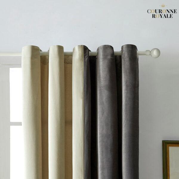 rideau gris ivoire