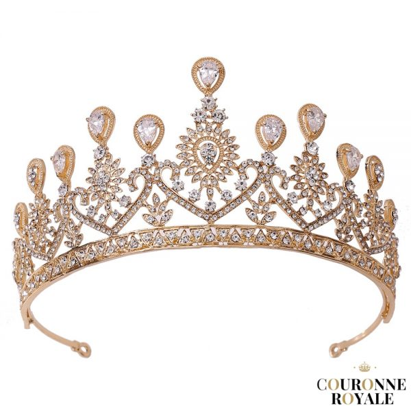 Diadème de mariée en cristal doré - Madra